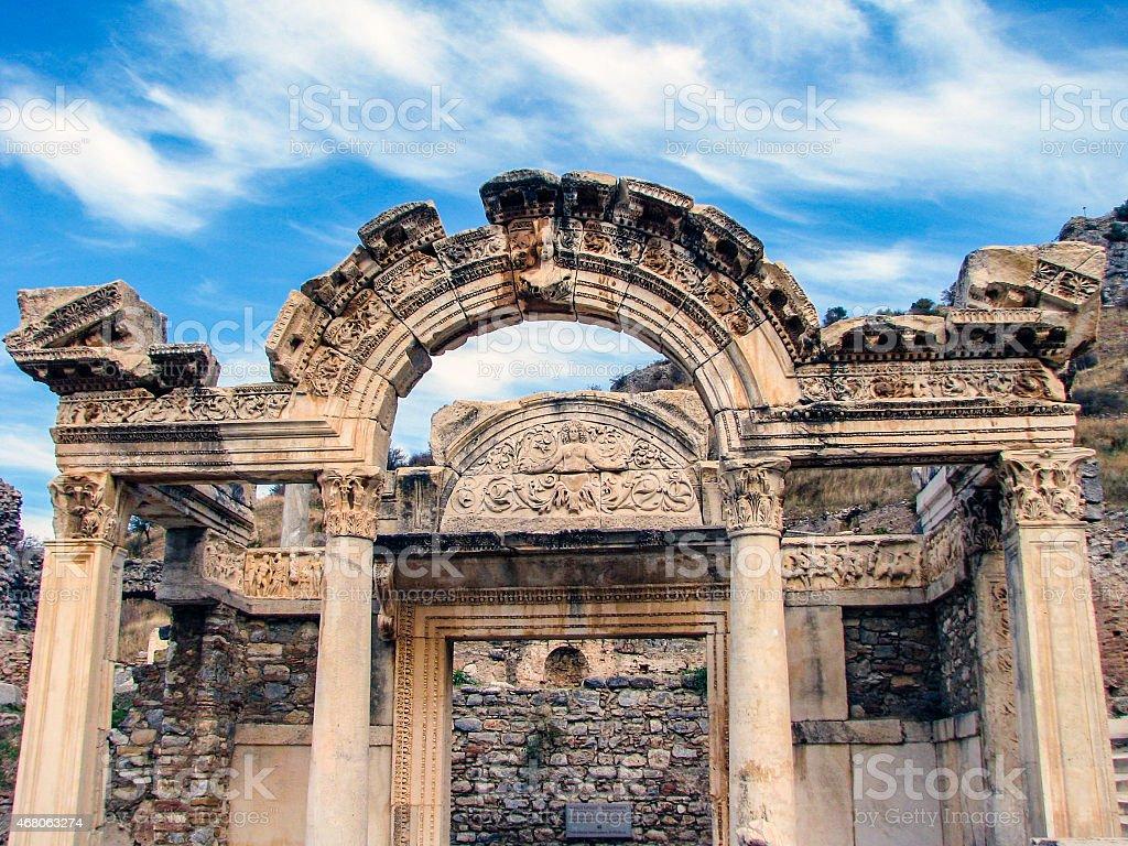 Temple of Hadrian - Ephesus, Turkey stock photo