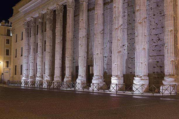 Temple of Hadrian, Il Tempio di Adriano stock photo