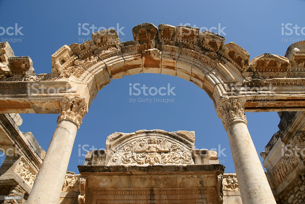 Temple of Hadrian royalty-free stock photo