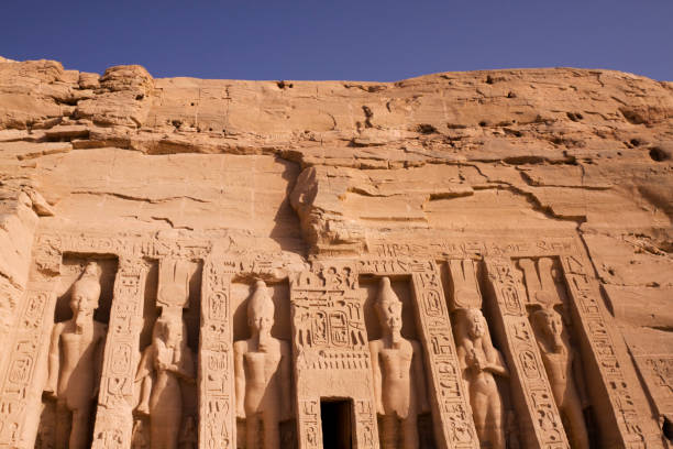 Temple of Hathor Abu Simbel Egypt  valley of the kings stock pictures, royalty-free photos & images