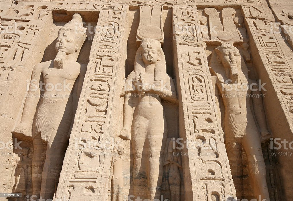 Temple of Hathor at Abu Simbel royalty-free stock photo