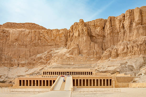 Temple of Hatshepsut. Luxor, Egypt Mortuary Temple of Queen Hatshepsut. West Bank, Luxor, Nile Valley, Egypt valley of the kings stock pictures, royalty-free photos & images
