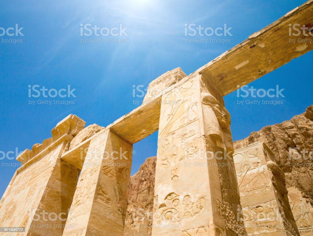 temple of Hatshepsut near Luxor in Egypt stock photo