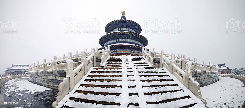Temple of Heaven Panorama - XXXLarge royalty-free stock photo