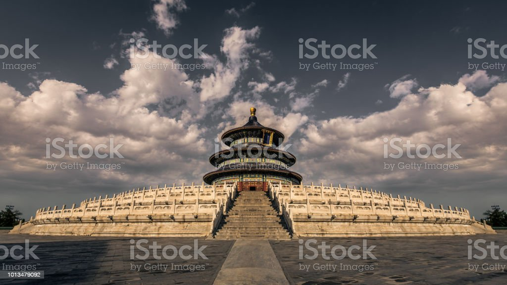 Temple of Heaven Temple of Heavin in Beijing, China. Adventure Stock Photo