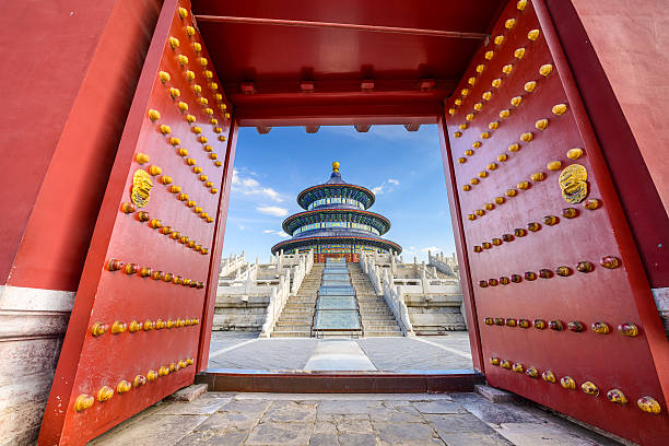 Temple of Heaven Beijing, China at the Temple of Heaven. taoism stock pictures, royalty-free photos & images