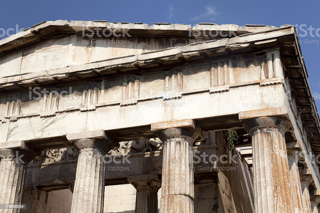 Temple of Hephaestus at ancient agora in Athens royalty-free stock photo