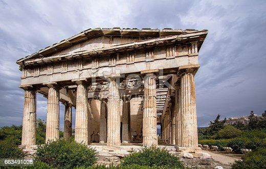 istock Temple of Hephaestus, Athens, Greece 663491028