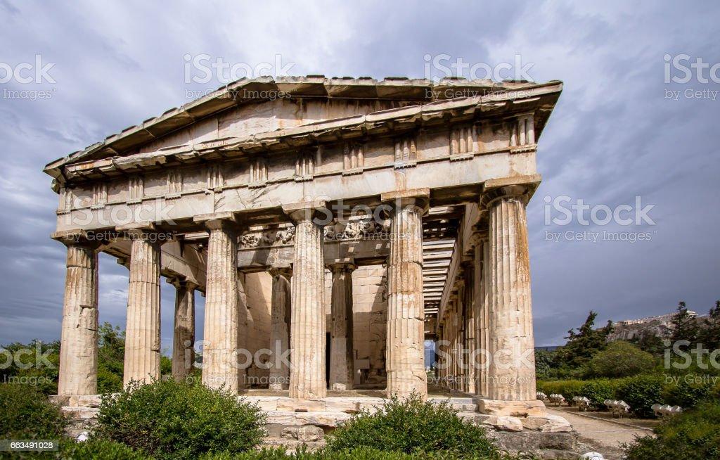 Temple of Hephaestus, Athens, Greece stock photo