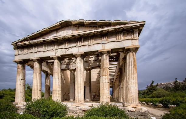 Temple of Hephaestus, Athens, Greece Temple of Hephaestus in Ancient Agora, Athens, Greece ancient greece stock pictures, royalty-free photos & images