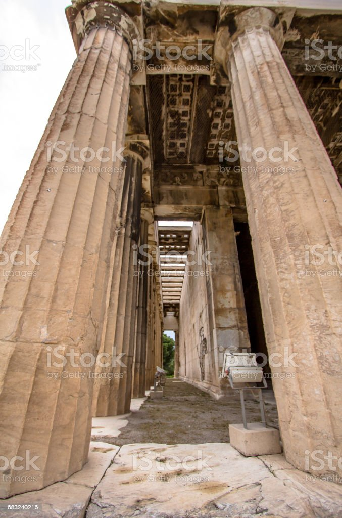 Temple of Hephaestus, Athens, Greece royalty-free 스톡 사진