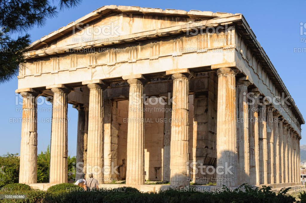 Temple of Hephaestus - Athens stock photo