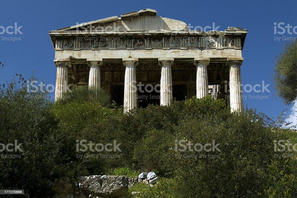 Temple of Hephaestus(Theseion) - Athens royalty-free stock photo