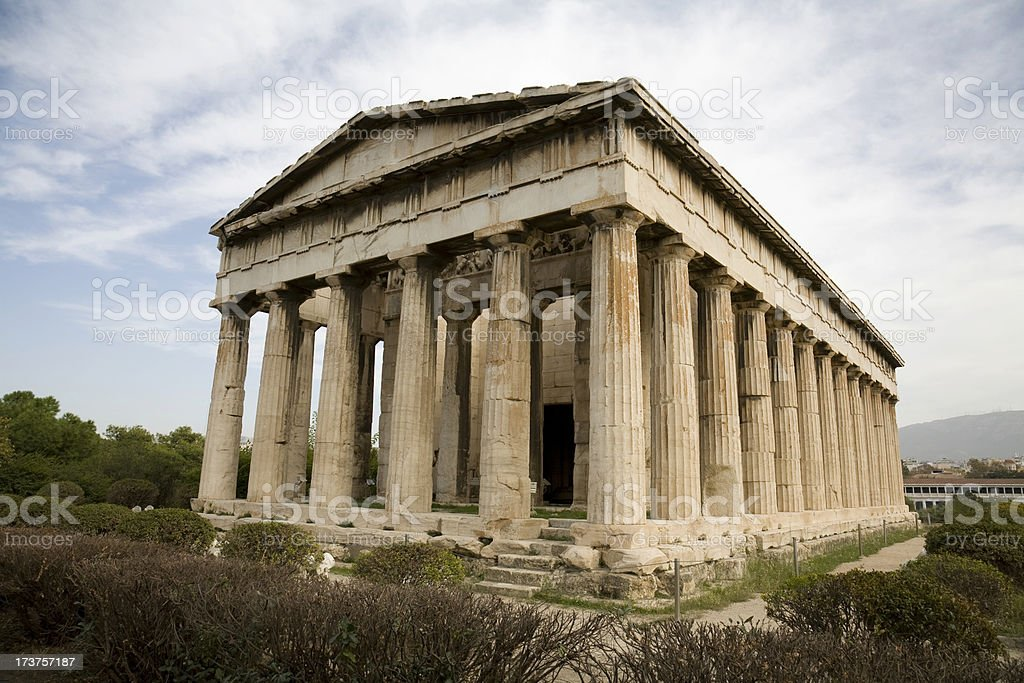 Temple of Hephaestus in Athen stock photo