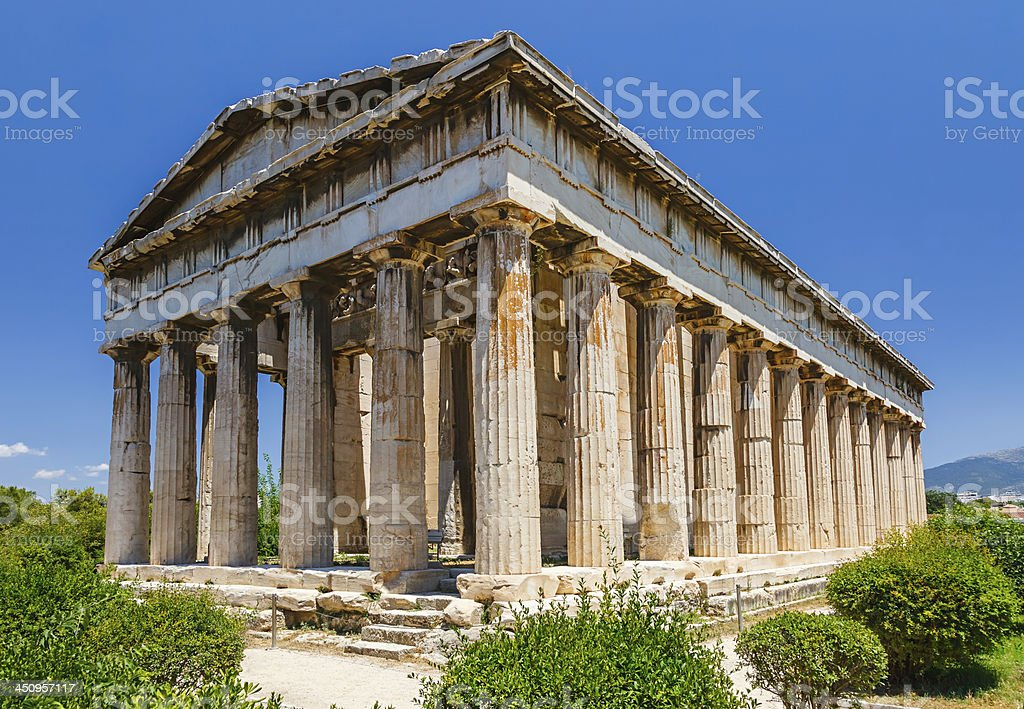 Temple of Hephaestus in Athens royalty-free stock photo