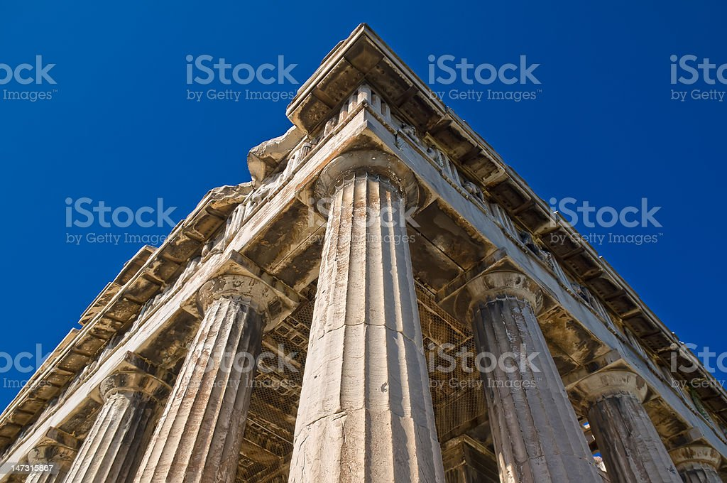 Temple of Hephaestus royalty-free stock photo