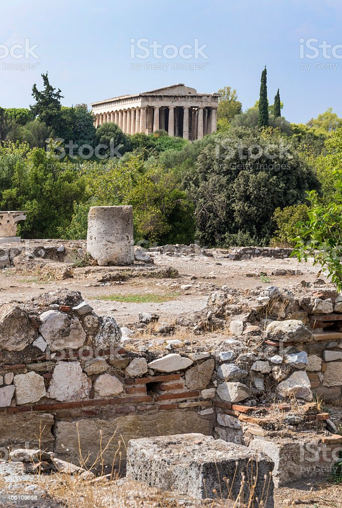 Temple of Hephaestus stock photo