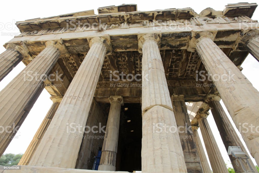 Temple of Hephaestus - Thission stock photo