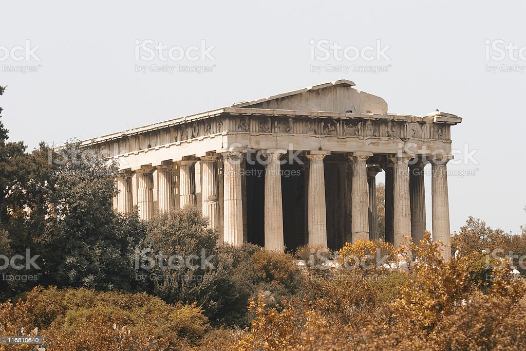 Temple of Hephestis, Atjens, Greece royalty-free stock photo