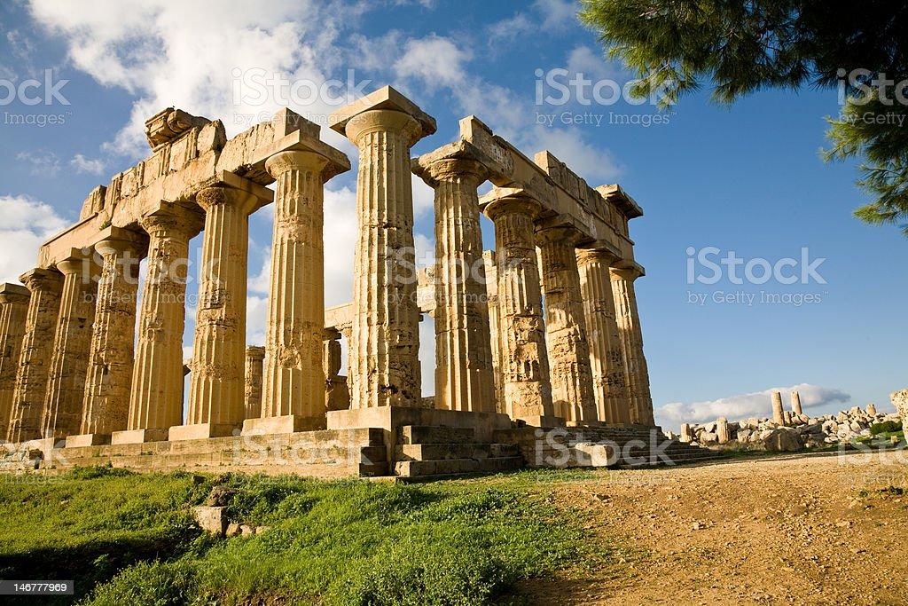 Temple of Hera, Selinunte, Sicily royalty-free stock photo