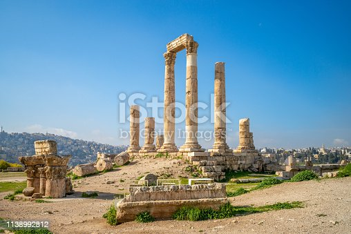 Temple of Hercules on Amman Citadel in Jordan