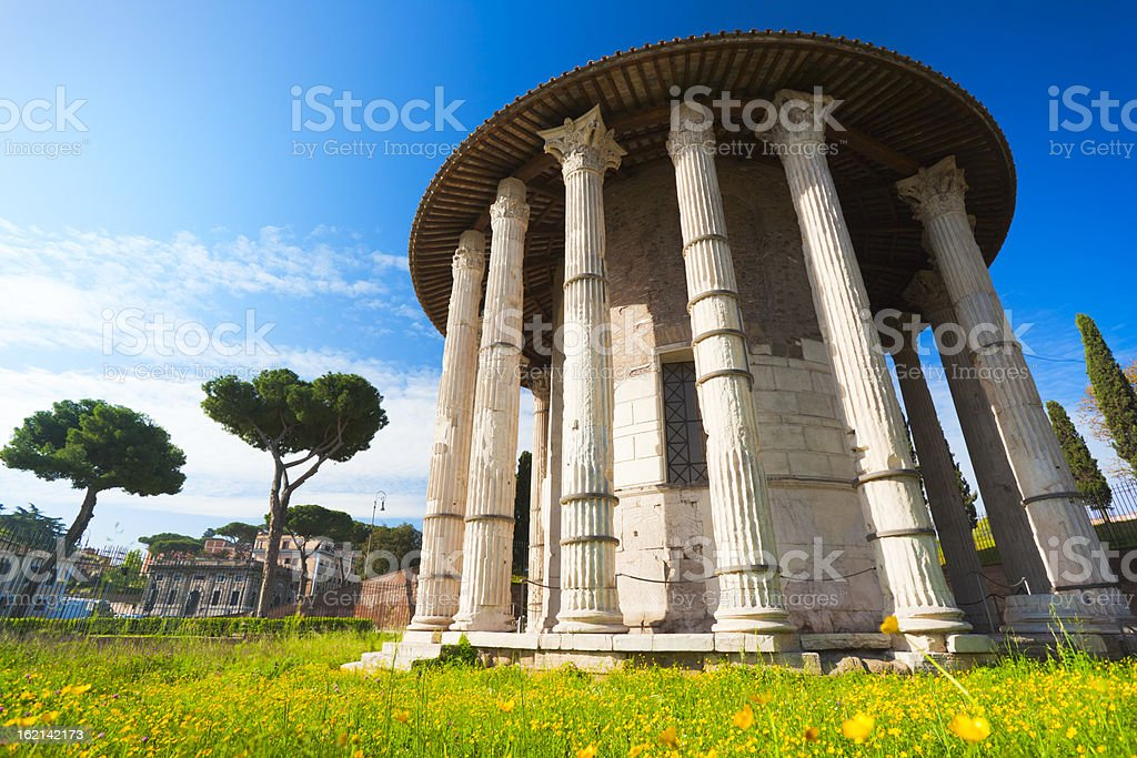 Temple of Hercules Victor, Rome royalty-free stock photo
