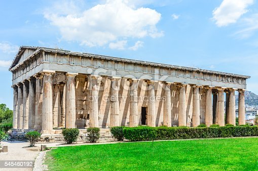 istock Temple of Herphaesus in the Ancient Agora - Athens, Greece 545460192