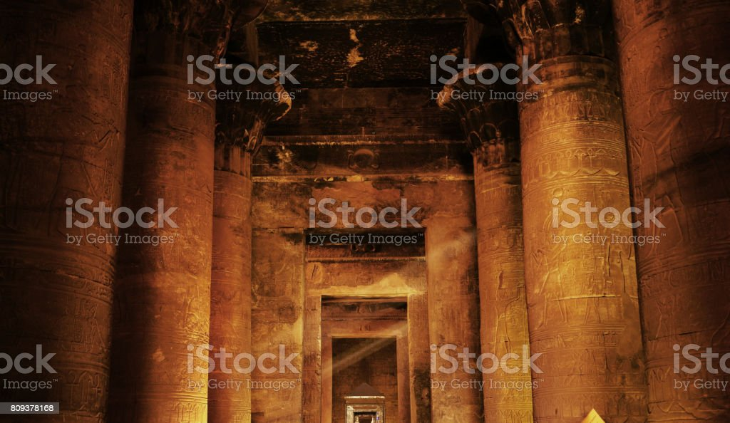Temple of Horus - Edfu, Egypt stock photo