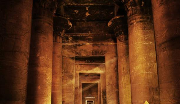 Temple of Horus - Edfu, Egypt stock photo