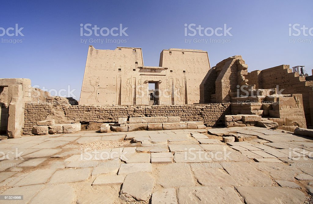 Temple of Horus in Edfu, Egypt stock photo