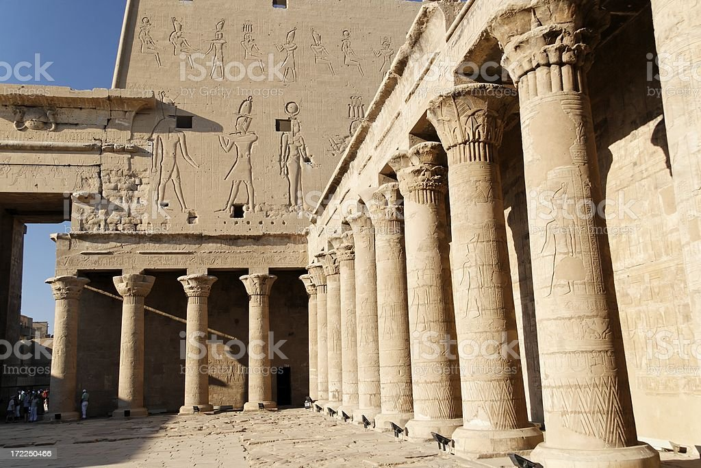 Temple of Horus stock photo