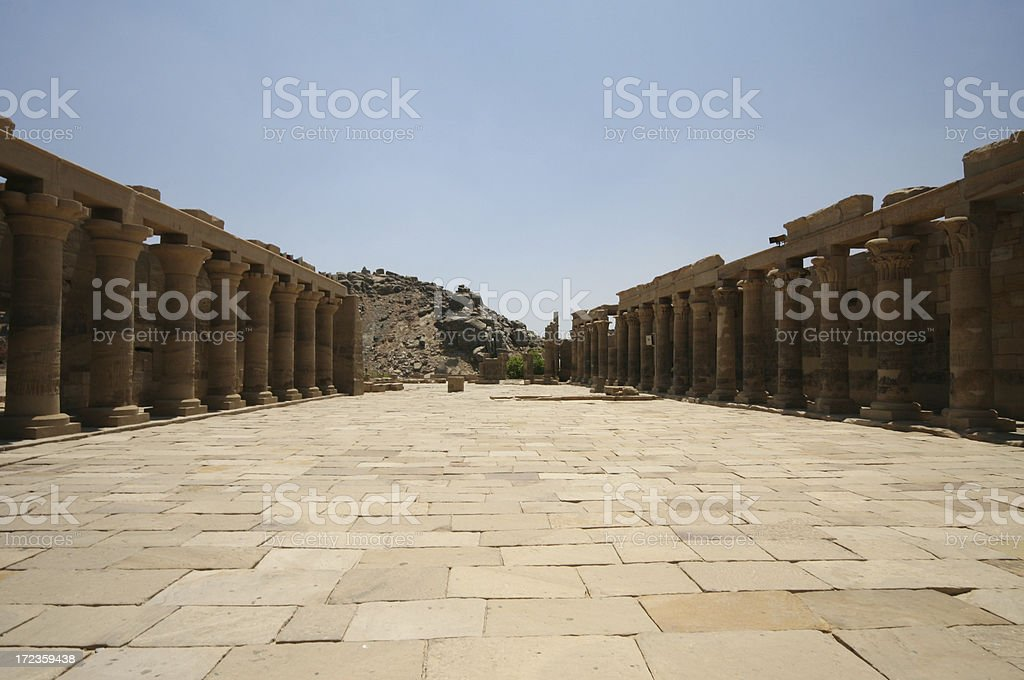 Temple of Isis: Outer Court royalty-free stock photo