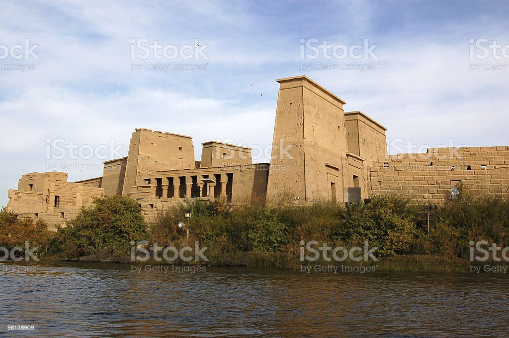 Temple of Isis, Philae royalty-free stock photo