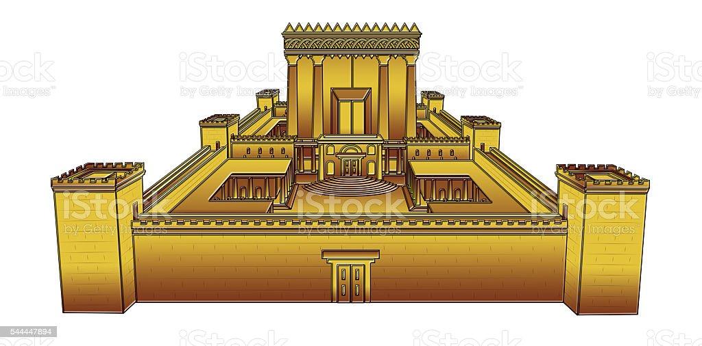 Temple of Jerusalem stock photo
