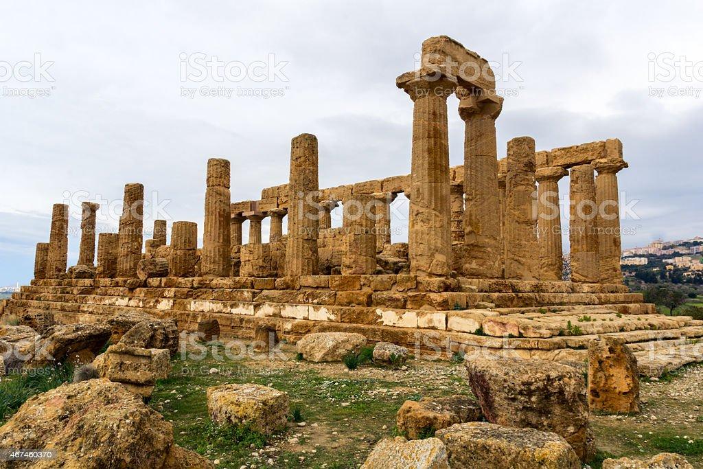 Tempio di Giunone. Agrigento, Sicilia. - foto stock
