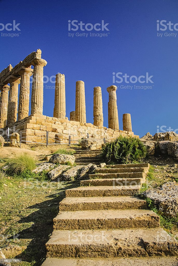 Temple of Juno royalty-free stock photo