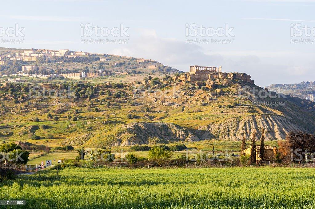 Tempio di Giunone, Valle dei templi, Agrigento - foto stock