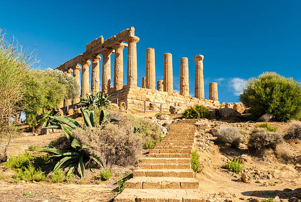 Temple of Juno; Valley of the Temples of Agrigento stock photo