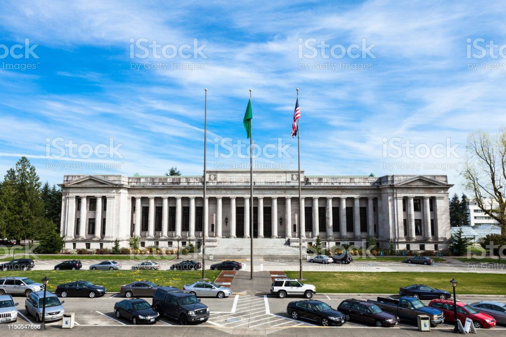 The Temple of Justice at the Washington State Capitol Building in...
