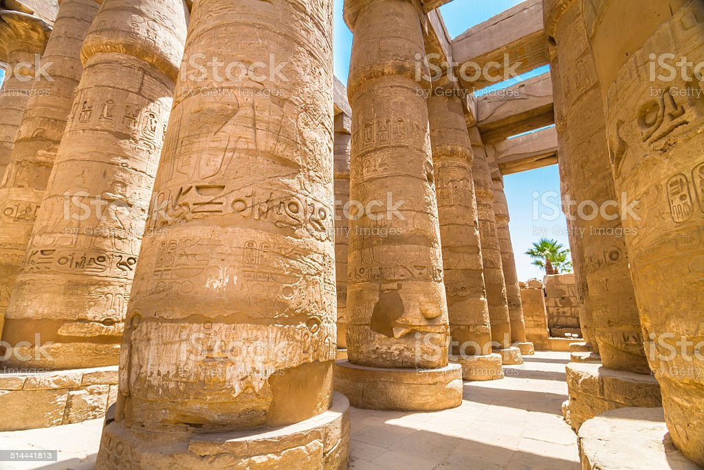 Temple of Karnak, Luxor, Egypt. stock photo