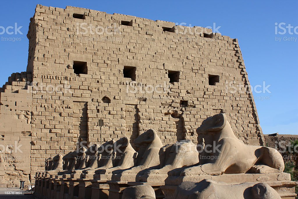 temple of karnak stock photo