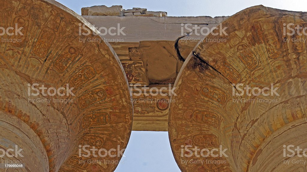 관자놀이 of karnak royalty-free 스톡 사진