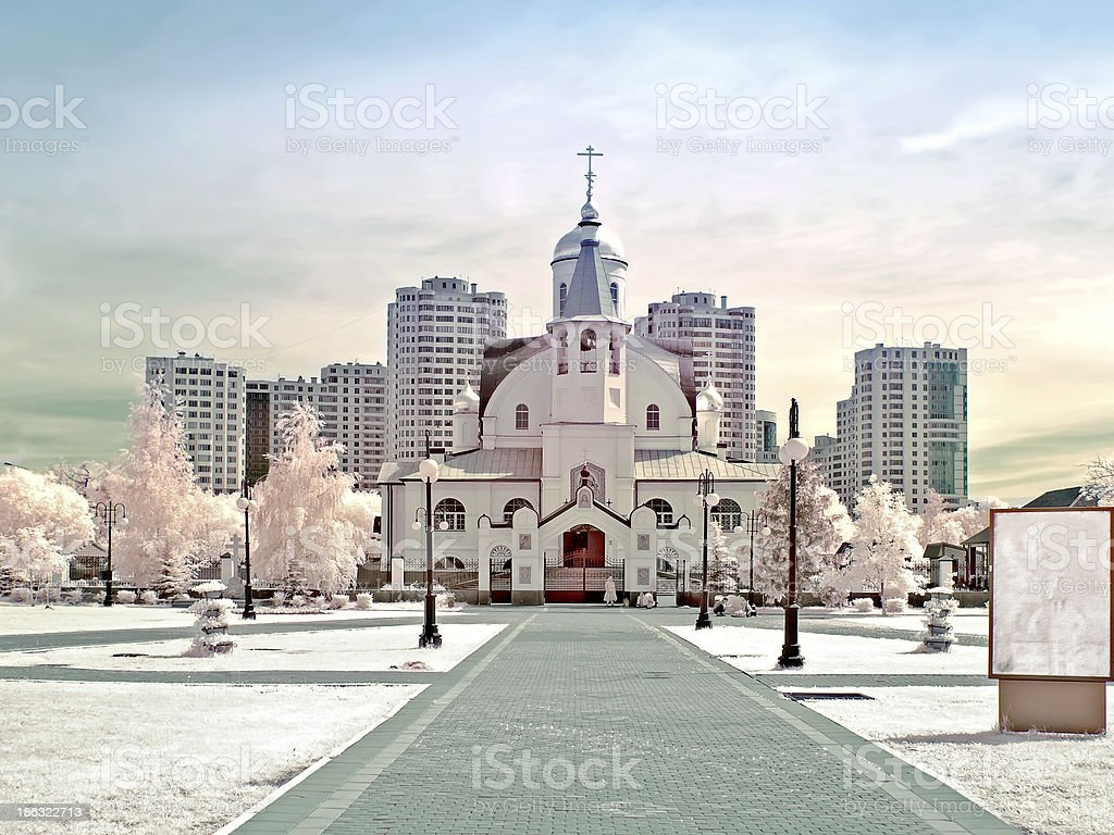 Temple of Kazan Divine Mother stock photo