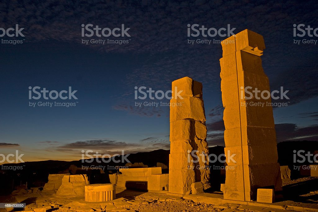 Temple of Khnum, Aswan stock photo