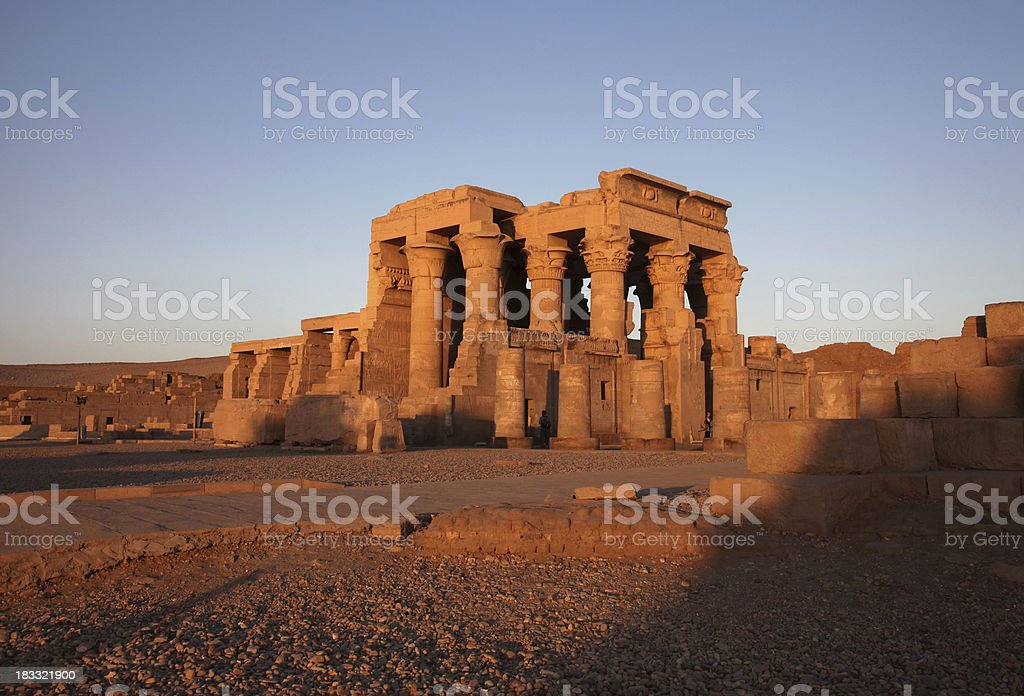 Temple of Kom Ombo at Sunset stock photo
