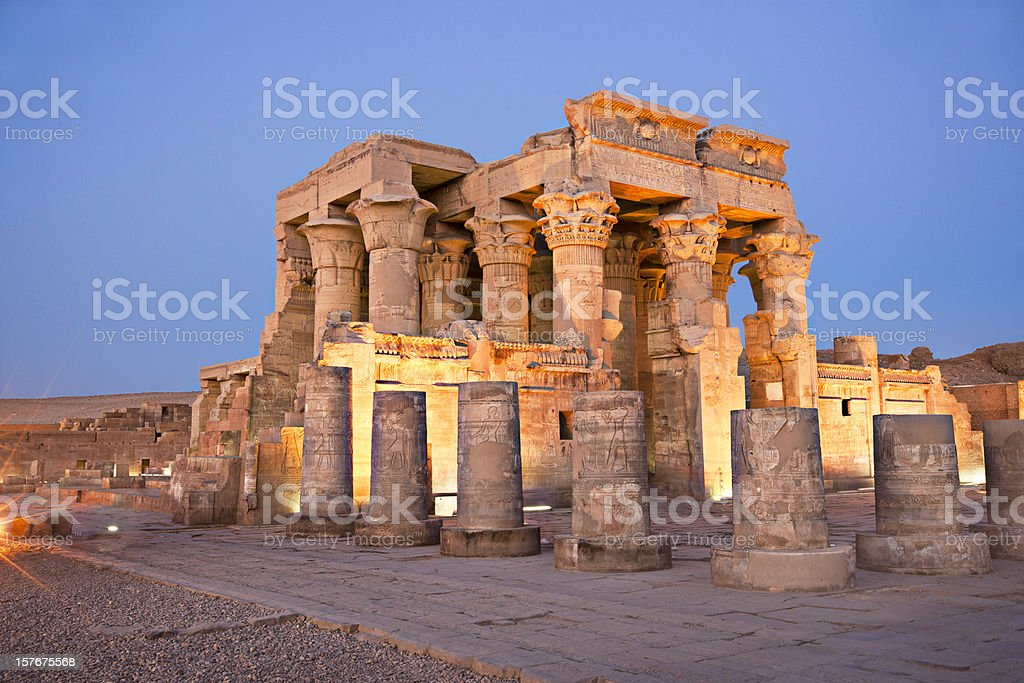 Temple Of Kom Ombo Temple Of Kom Ombo - Egypt Ancient Stock Photo