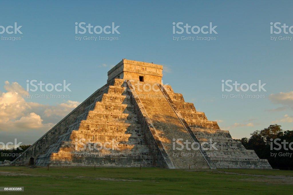 Temple of Kukulkan stock photo