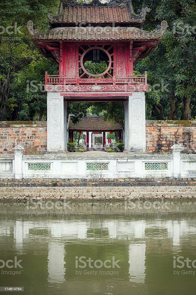 Temple of Literature, Hanoi royalty-free stock photo