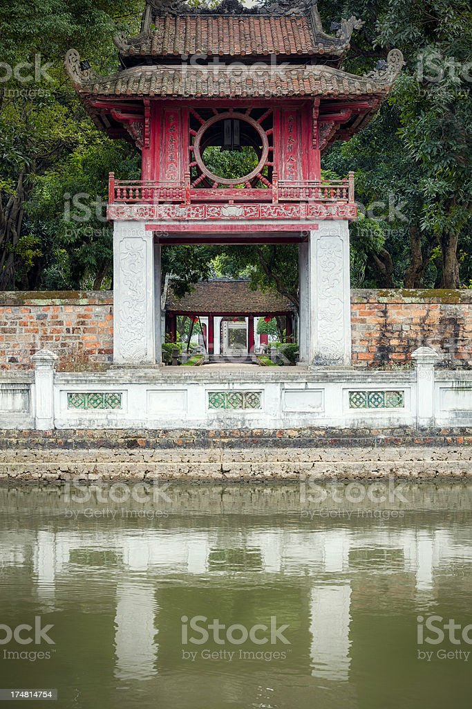 Temple of Literature, Hanoi stock photo