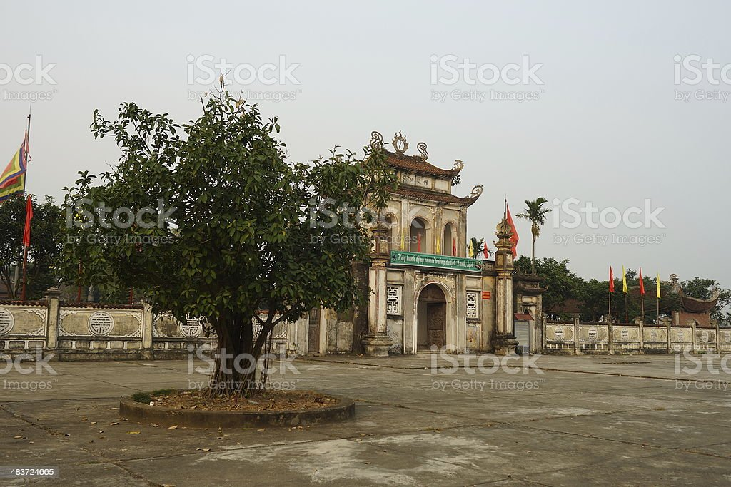Temple of literature, Hanoi, Vietnam stock photo
